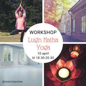 yoga workshop 10 april lugn hatha